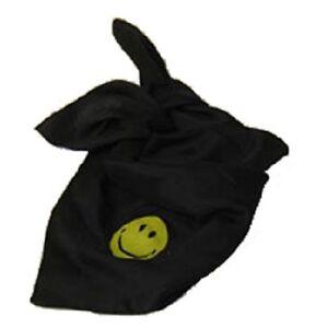 bambini-foulard-con-stampa-Smiley-NERO-GIALLO-70-x-70-cm-NUOVO-SCIARPA-DONNA