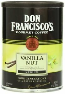 Don Francisco Vanilla Nut Coffee in Can, 12-Ounce Ground DATE BSB JUNE 2021