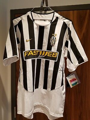 new concept 52134 f83aa RARE 2003-2004 Juventus Home Jersey Large NIKE   eBay