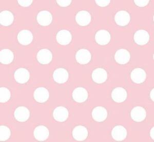 Famoso Carta da parati pois grandi bianchi su fondo rosa per camerette UY27