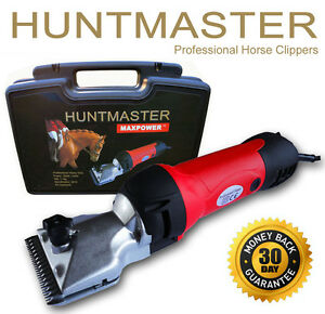 Huntmaster-Ex-Demo-horse-clippers-yard-clippers-heavy-duty-2-sets-clipper-blades