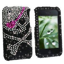 Bling Rhinestone Protector Case for Apple iPhone 3G/3GS - Skull