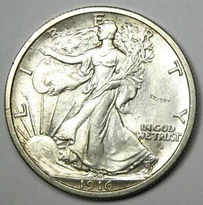1916-D-Walking-Liberty-Half-Dollar-50C-Coin-Choice-BU-Uncirculated-UNC-MS