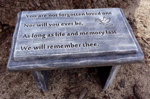"Bench top mold memorial abs plastic concrete plaster mold 22/"" x 13.5/"" x 2.25/"""