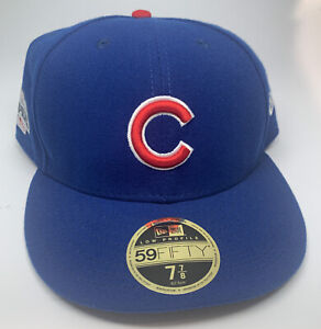 Chicago Cubs 2016 WORLD SERIES New Era 59FIFTY Hat Size 7 7/8 Low Profile Cap