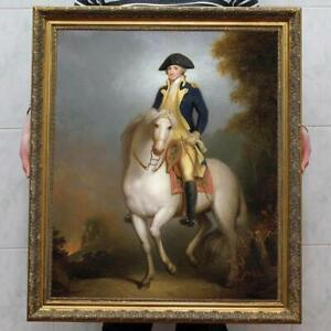 """Old Master-Art Antique Oil Painting Portrait aga horse on canvas 30""""x40"""""""