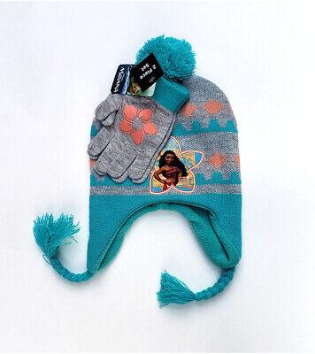 Disney Moana Big Girls 2-Pc Toy Story Moana Hat and Gloves Set Retail $24 NEW
