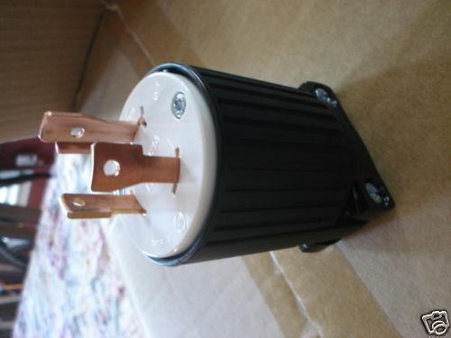 L5-30P  locking male plug  3-prong 125 Volt 30 amp FREE SHIP
