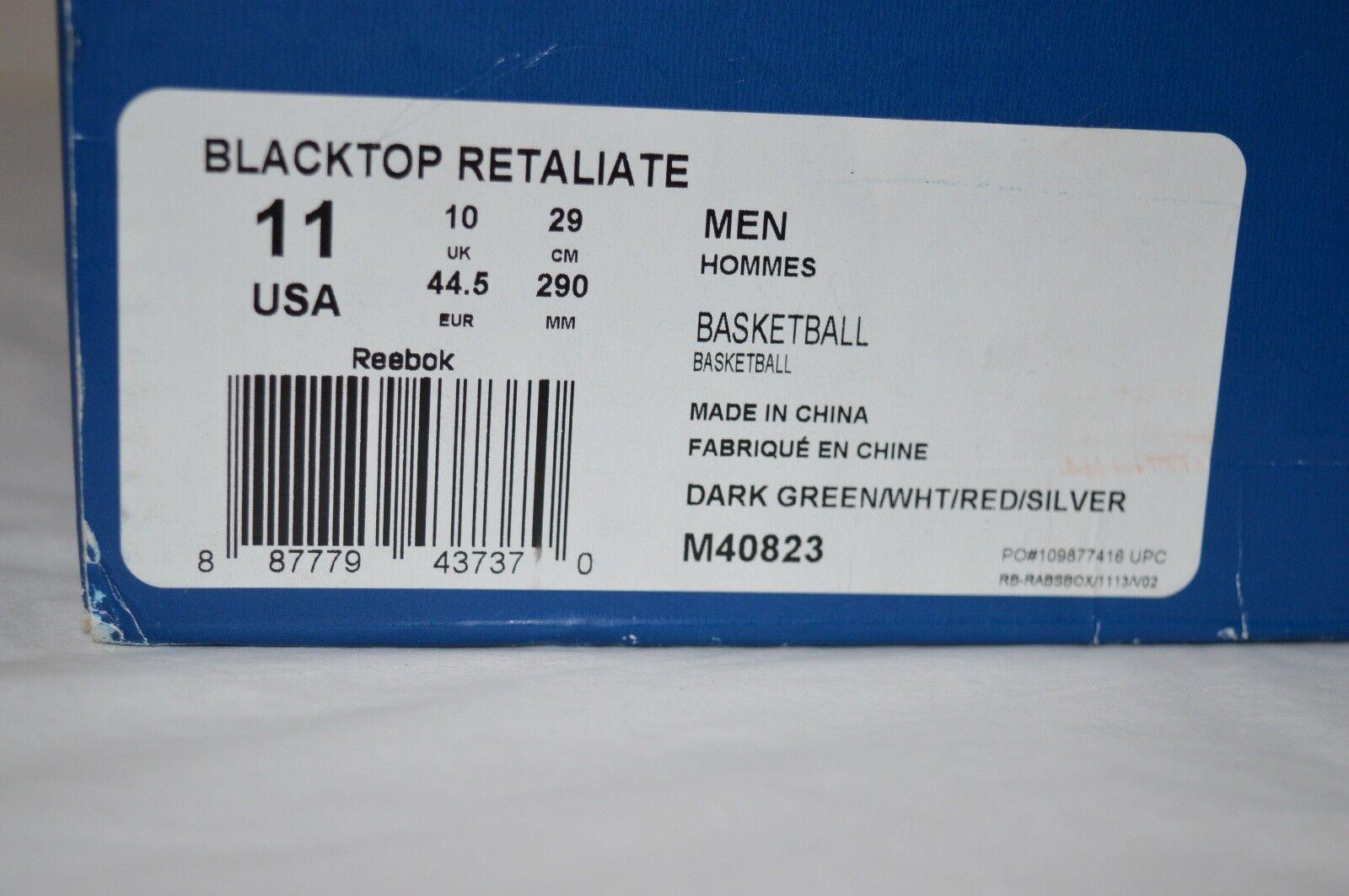 fe7649dc349 VNDS Reebok Blacktop Retaliate PE Boston Pump Dark Green white red silver  Sz 11 for sale online
