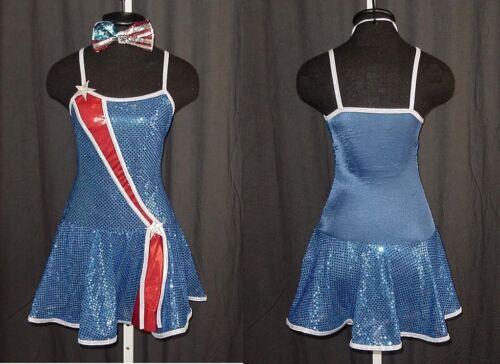 Miss Liberty Jazz Dance Costume Baton 8 /& 10 Adult Marked Down