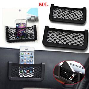 Exterior 1x Auto Car SUV Interior Body Edge Elastic Net Storage Phone Holder Accessories