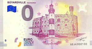 BILLET-0-EURO-BOYARDVILLE-ILE-D-039-OLERON-FRANCE-2018-NUMERO-100