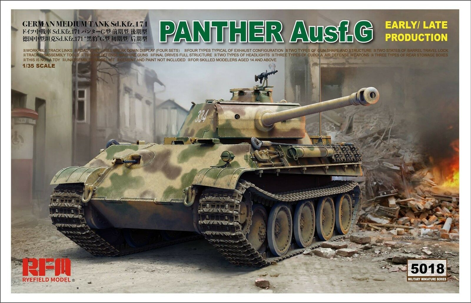 RMF 1  35 RM -5018 WWII Tyska Panther AuSF.G Sd.Kfz.171 (Early  Late Production)