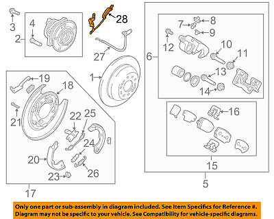 Genuine Hyundai 95681-B8000 ABS Wheel Sensor Assembly