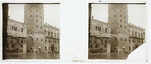 Italia-Ayuntamiento-A-Identificar-Aprox-1910-Foto-Estereo-Placa-De-Cristal-Roto