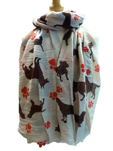 Animal dog paw print scarf  soft large light weigh shawls wrap large gift