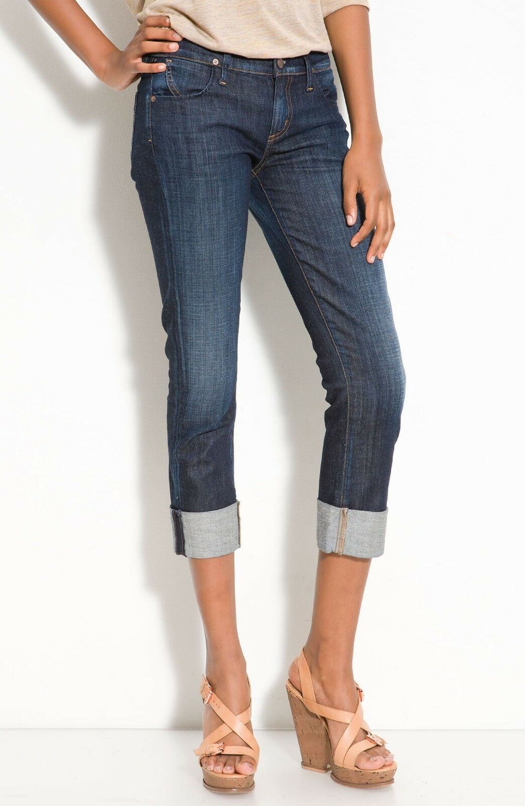 COH Citizens of Humanity Dani Cropped Straight Leg Capri Jean in Scorpio Size 26
