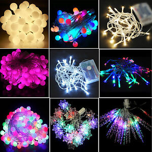 Outdoor String Lights Electric : Electric/Battery Operated LED String Fairy Lights Indoor Outdoor Christmas Party eBay