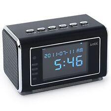 Jumbl™ Mini Hidden Spy Camera Radio Clock w/Infrared Night Vision - Black