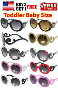 465eba1982dd Image is loading Kids-Toddler-Baby-Designer-Inspired-Round-Frame-Sunglasses-