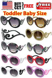 7bd5a1f9869 Image is loading Kids-Toddler-Baby-Designer-Inspired-Round-Frame-Sunglasses-