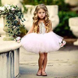 Baby Girl Tutu Dress Sequin Tulle Dress Princess Girls Party Performance Dresses