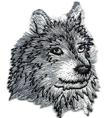 WOLF HEAD -  WILD ANIMAL - Iron On Embroidered Applique Patch/Animals, Forest