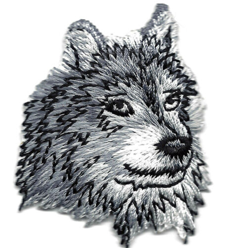 Forest WOLF HEAD Iron On Embroidered Applique Patch//Animals WILD ANIMAL