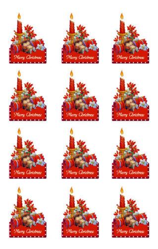 Planche de stickers MERRY CHRISTMAS Papier adhésif adhesive autocollant X-mas
