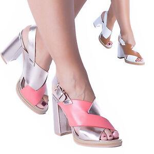 20f582cea17 Ladies Womens Platform Block Heel Sandals Peep Toe Party Ankle Strap ...