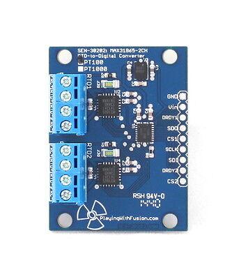 Dual-Ch MAX31865 RTD to Digital Converter, PT100/PT1000, Temperature,  Arduino   eBay