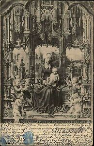 Palermo-Italien-Italia-Sizilien-AK-1904-Museo-Nazionale-gelaufen-nach-Leipzig