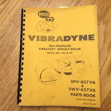 Bros Spvswv 627va Parts Manual Catalog Book List Asphalt Roller Compactor Guide