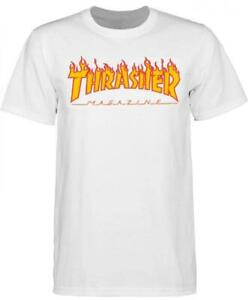 Thrasher-Flame-Logo-T-Shirt-White