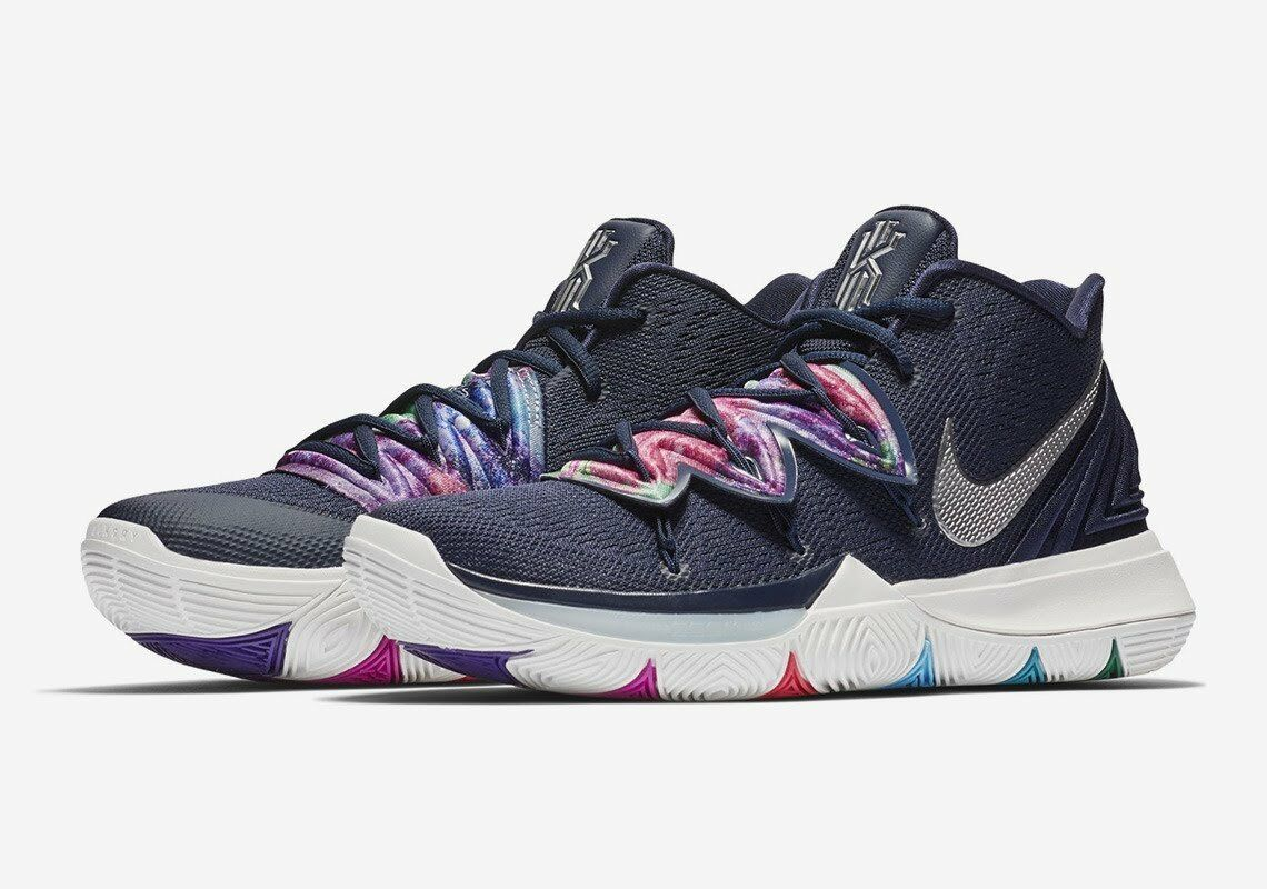 Nike Kyrie Irving 5 V Multi-color Navy bluee Alternate Galaxy AO2918-900 Men GS c