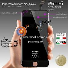 Display TOUCH SCREEN Vetro LCD per Apple iPhone 6 Nero Black Originale