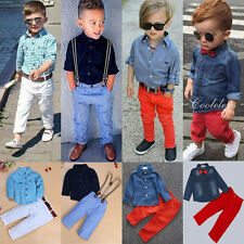 2pcs Toddler Kids Baby Boy Clothes Shirt Tops+Denim Jeans Pants Outfits Set