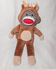 People Pals Sock Monkey Christmas Reindeer Costume Plush Stuffed Animal