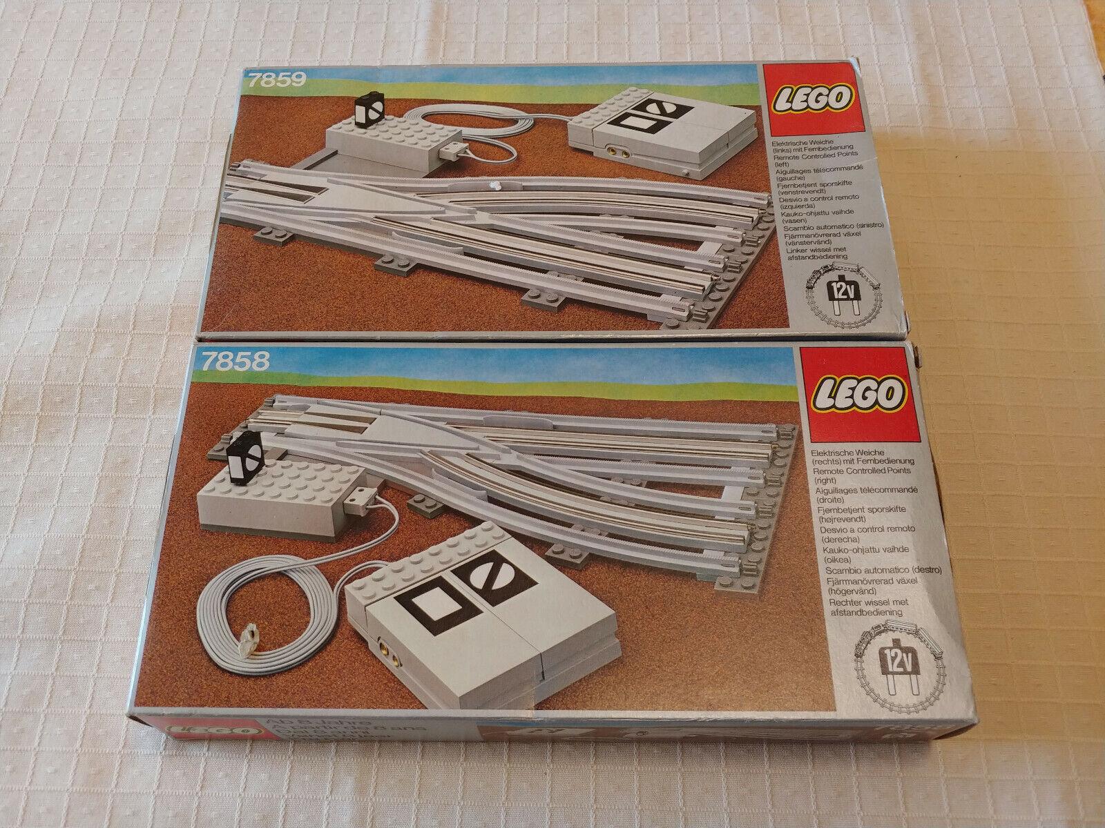 Weiche links GRAU SWITCH POINT Lego 12V Eisenbahn TRAIN 7859 Elekr