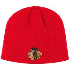 NHL Wintermütze Wollmütze Beanie hat CHICAGO BLACKHAWKS rot Eishockey