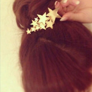 Women-Headwear-Hairpin-Continuous-Barrette-Star-Accessories-Girls-Gift-LC