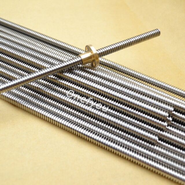 8mm Acme threaded Rod trapezoidal Lead Screw+T8 Nut For CNC 3D printer Reprap