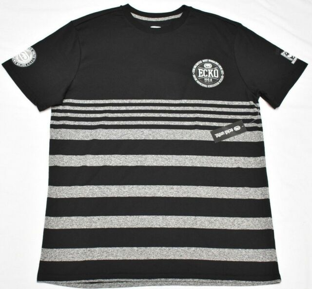 4ab20bdf Ecko Unltd T-shirt Men's Size L Striped Logo Graphic Tee Urban Streetwear  P231 for sale online | eBay