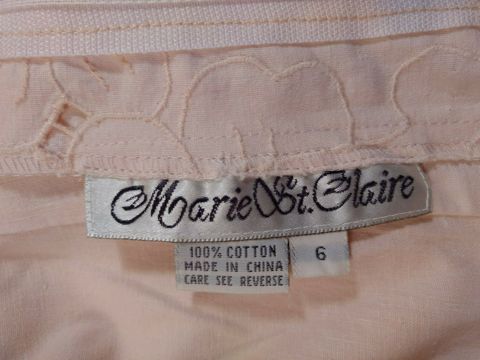 Vintage Marie St Claire 100% Cotton Embroidered C… - image 8