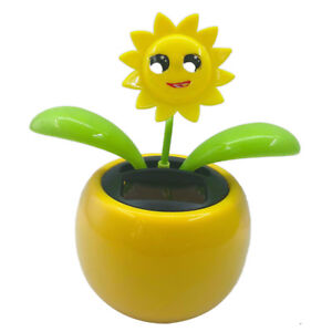 9ecfb57dff017 Flower Flip Flap Solar Powered Swing Pot Dancing Toy Car Decor ...