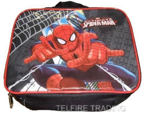 THE ULTIMATE SPIDERMAN INSULATED LUNCH BAG IDEAL CHILDS NURSERY SCHOOL PICNICS