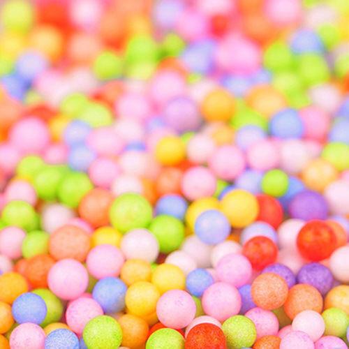 Assorted Colors Polystyrene Styrofoam Filler Foam Mini Beads Balls Crafts new