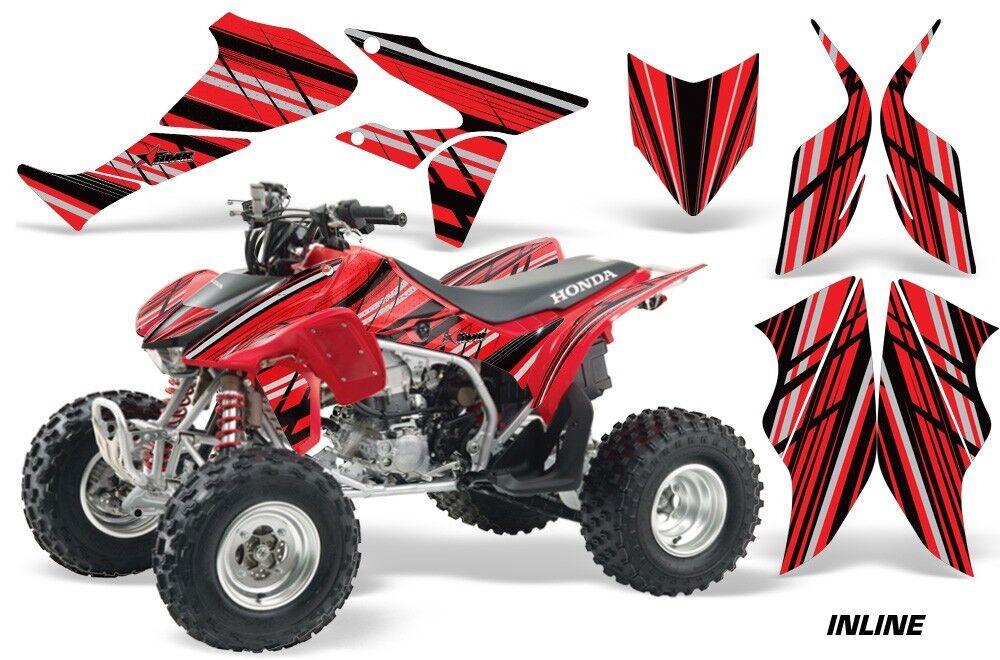 Atv Grafik Kit Quad Sticker für Honda Trx450r Trx450er Inline Rot