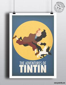 TINTIN  Snowy Minimal Film Movie Poster Posteritty Print Fanart Design - Matlock, Derbyshire, United Kingdom - TINTIN  Snowy Minimal Film Movie Poster Posteritty Print Fanart Design - Matlock, Derbyshire, United Kingdom