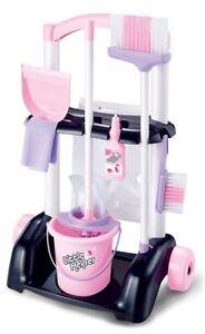 Детские розовые чистки тележки тележка с швабра и щетка для детей ролевая игра набор игрушек 298